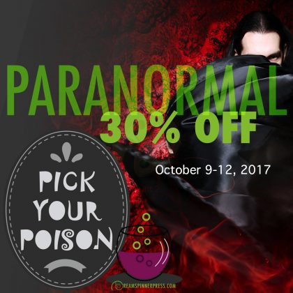 Paranormal titles are on sale at Dreamspinner until October 12, 2017!