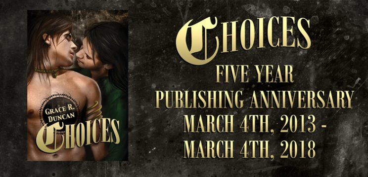Grace's Five Year Publishing Anniversary!