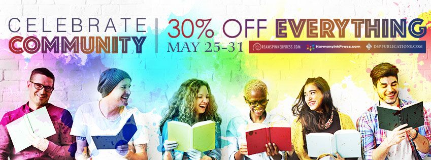 Celebrate Community! 30% off at Dreamspinner Press through May 31, 2018