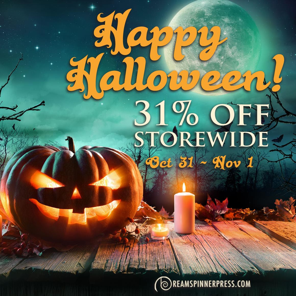 31% Halloween sale at Dreamspinner!  I wonder why 31… oh.  Yeah!