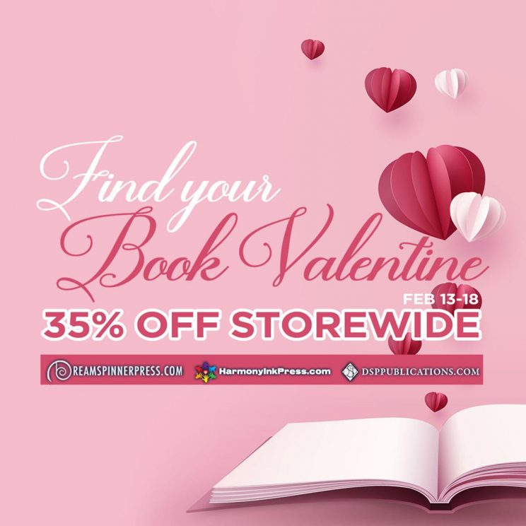 Dreamspinner Press (and it's imprints) Valentine Sale – 35% off storewide!
